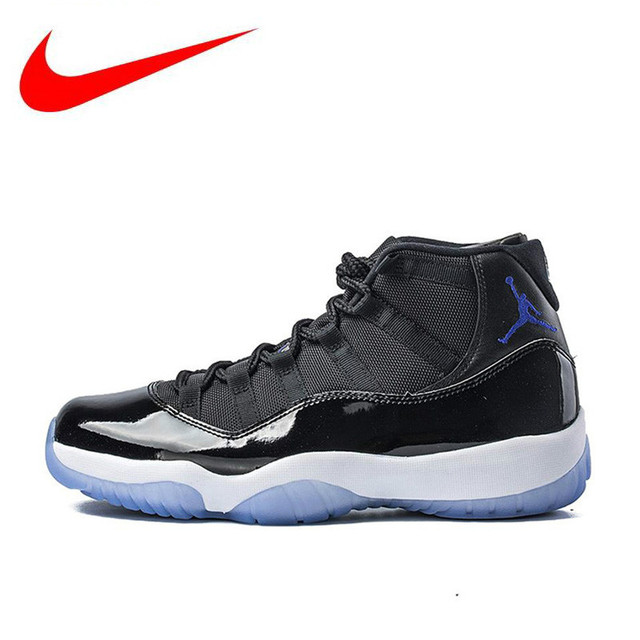 e29cb1b981132d Original Nike Air Jordan 11 Space Jam Breathable Men s New Arrival  Authentic Basketball Shoes Sports Sneakers 378037-003