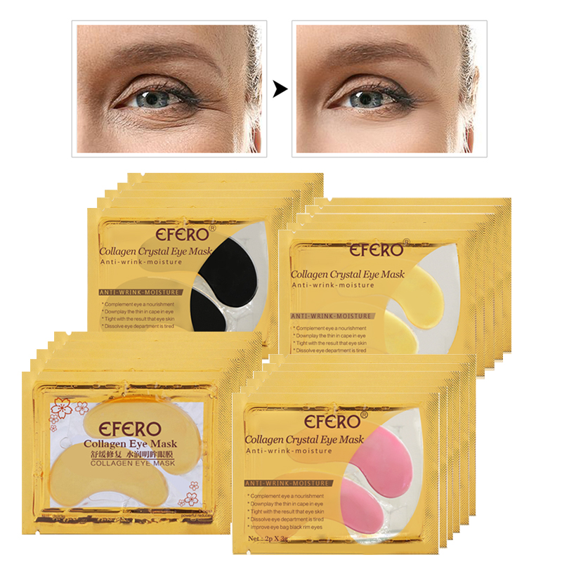 Collagen Crystal Eye Mask Patches Anti Wrinkle for Face Care Masks Pad Gel EFERO 6pair=12pcs