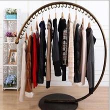 Железная вешалка для одежды, дугообразная рамка, напольная витрина для одежды, полки для хранения одежды, c-образные вешалки