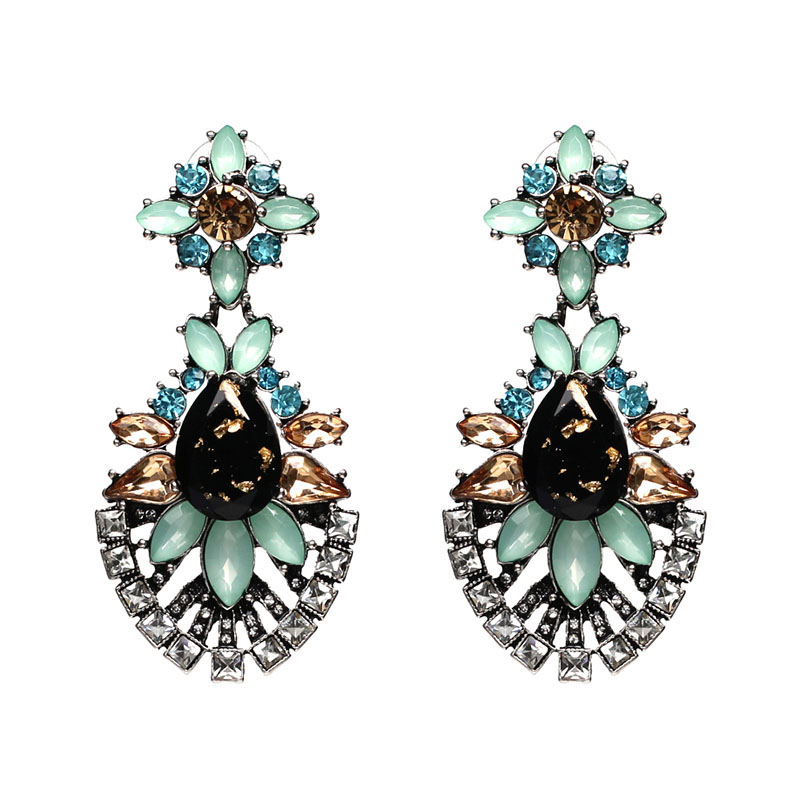 New Arrival Waterdrop Hot Earring Good Quality Jewelry Crystal Multicolor Lovely Special Bohemia Big Earrings For Women