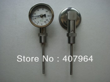 """0-150C Industrial bimetal thermometer with bottom connection,SS304, dial 2.5"""" fast delivery,high quality"""