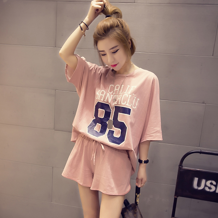 Girls Pijamas Mujer Summer Comfortable Women   Pajamas     Sets   Short Sleeve Thin Cotton Home Clothing Lovely Sleepwear Suit