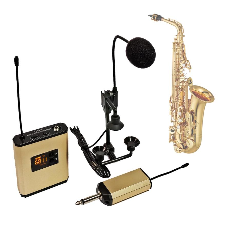 Beta98h/c Atm350u Saxophone Trumpet Wireless Microphone System Instrument Gooseneck Clip Mic UHF Transmitter + Receiver Set Kits