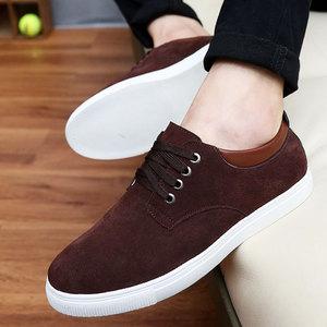 Image 4 - Sneakers men shoes 2020 new fashion suede casual flats shoes men sneakers lace up breathable solid men shoes zapatillas hombre