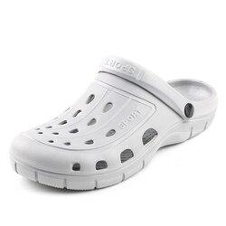 2018 New Solides Men Summer Sandals Mens Croc Sandals Sandalias Couple Summer Hollow Shoes Beach Garden women Nest Shoes