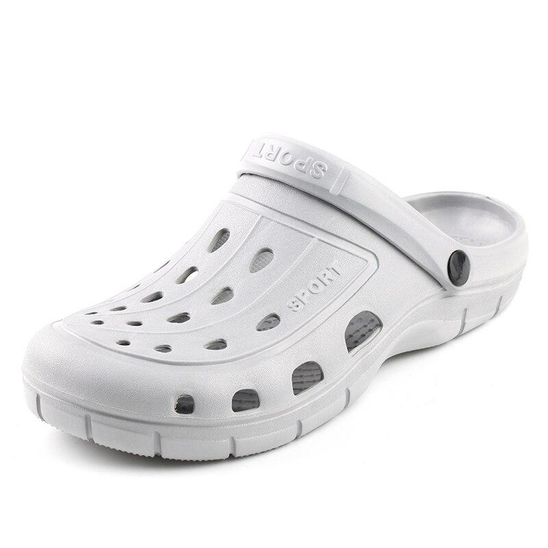 2018 nuevos Solides Sandalias de verano para hombre Sandalias Croc Sandalias pareja verano Zapatos huecos playa jardín mujer nido zapatos
