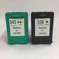 2PK Ink Cartridge For HP PSC 1507 1510 1600 1610 For HP 338 Black For HP