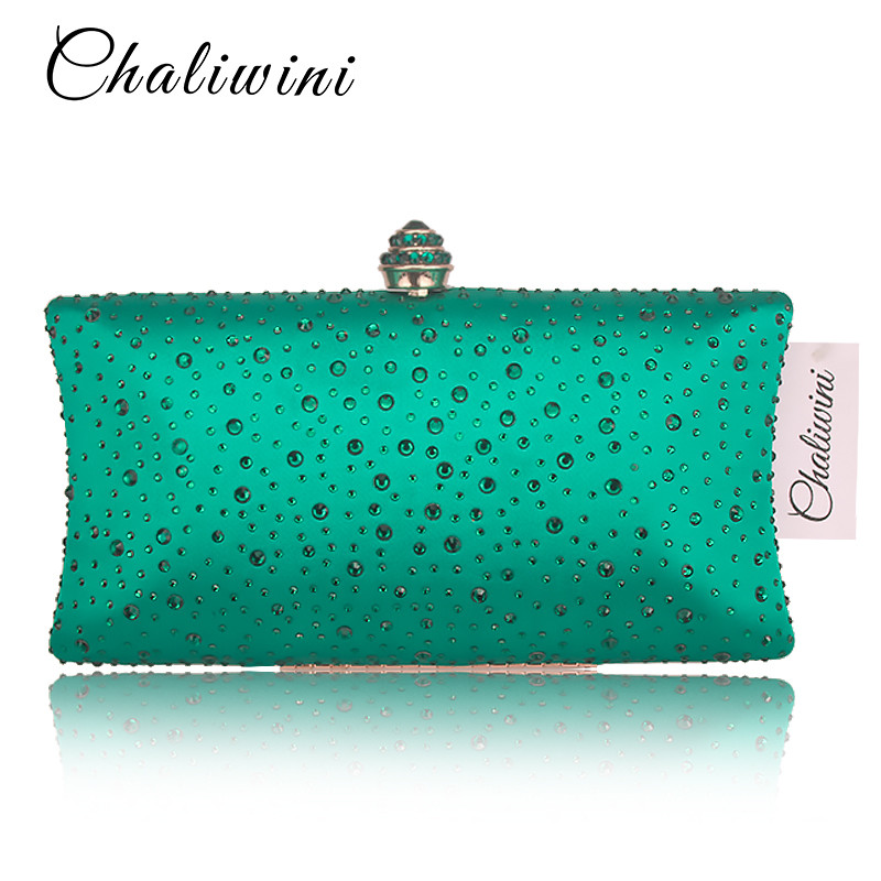 Black Colorful Diamond Crystal Evening Clutch Bags Women Handbag Cocktail Party Metal Clutches Bag Bridal Wedding Clutch Purse in Top Handle Bags from Luggage Bags