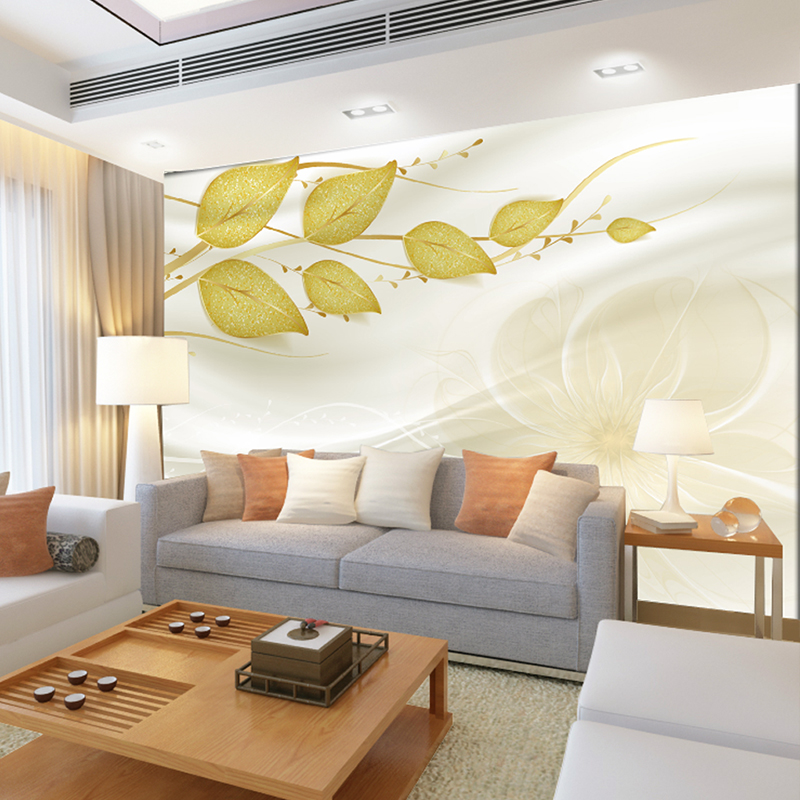 Custom photo 3d wallpaper Non-woven Fabric mural wall Green vine space 3 d TV setting wall stripe green leaves wallpaper new 3d flocking home wall stickers country leaves fashion non woven wallpaper bedroom sitting room tv setting wall waterproof