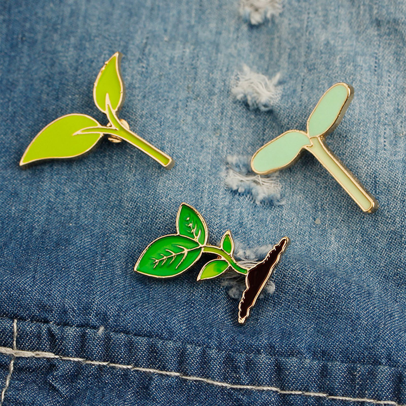 1 Pcs Vintage Novelty Echometer Metal Brooch Button Pins Denim Jacket Pin Jewelry Decoration Badge For Clothes Lapel Pins Badges Home & Garden