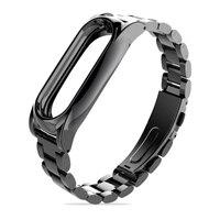 Original Mijobs Metal Strap For Xiaomi Mi Band 2 Screwless Stainless Steel Bracelet Wristbands