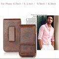 Cuero Universal Clip de cinturón bolsa del teléfono del bolso para el iPhone 6 6 S Plus 5 5S caja del Vintage para Samsung Galaxy S6 S5 S4 estilo Bussiness