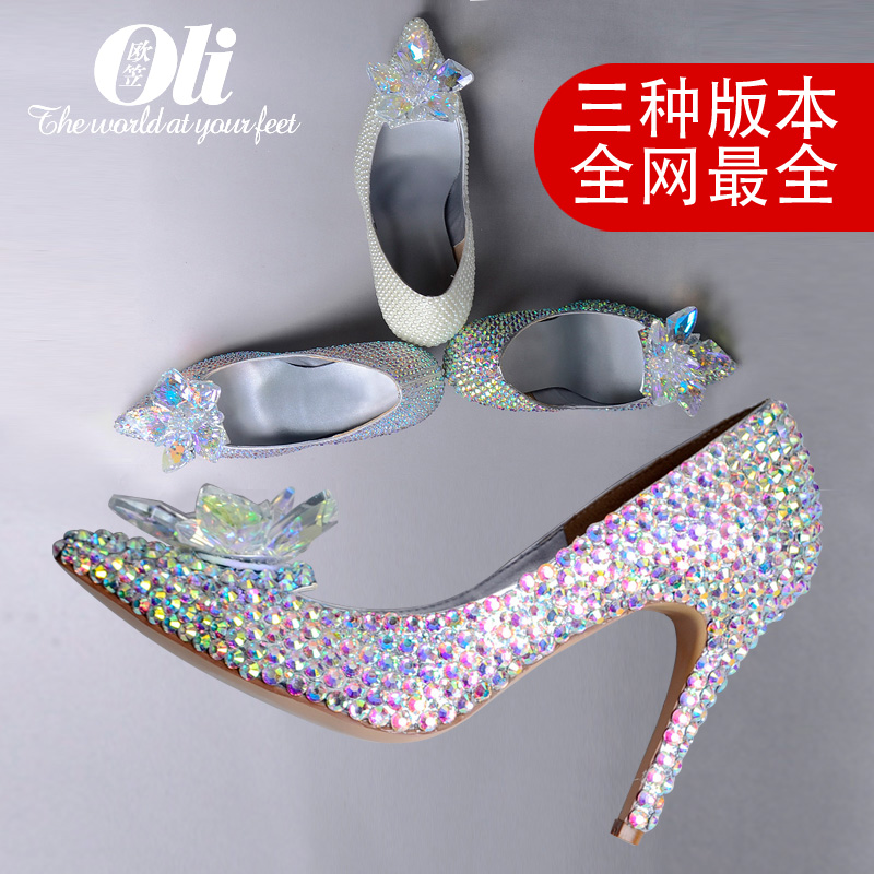 2016 white pearl shoes crystal high-heeled shoes pointed toe shoes ruslana korshunova t wedding shoes fashion shoes crystal shoes wedding shoes silver ultra high heels high heeled shoes latin dance single shoes ruslana korshunova fashion