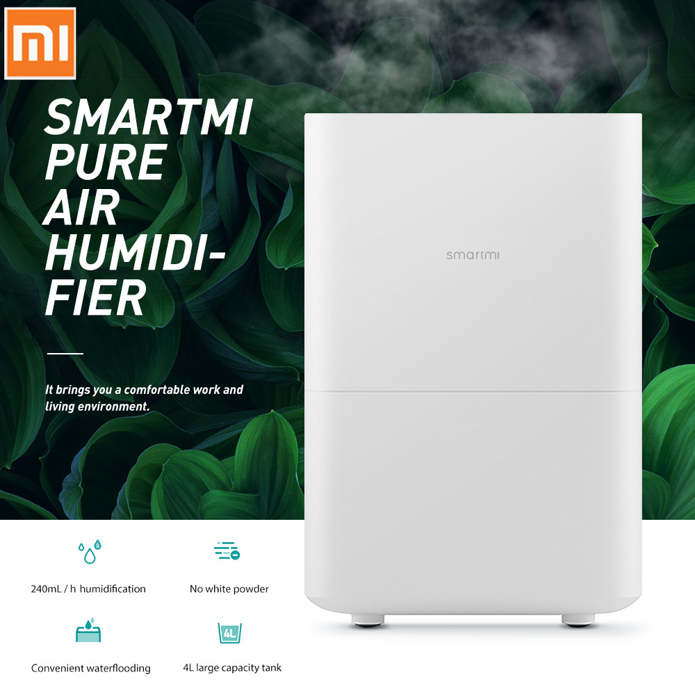 Xiaomi Viomi Smartmi Pure Air Humidifier With 4L Large Capacity Tank Automatic Water Evaporation Mist Maker Home Office
