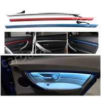 Two color four doors interior LED decorative atmosphere lights on trim panel for BMW 3 Series F30 F35