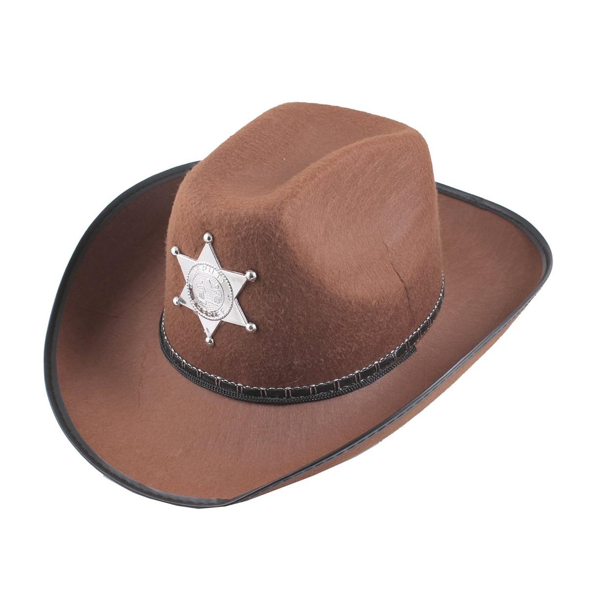 1   vaquero occidental Salvaje Oeste Sheriff sombrero vestido de lujo traje  de Halloween (marrón) 6661f1a7cea