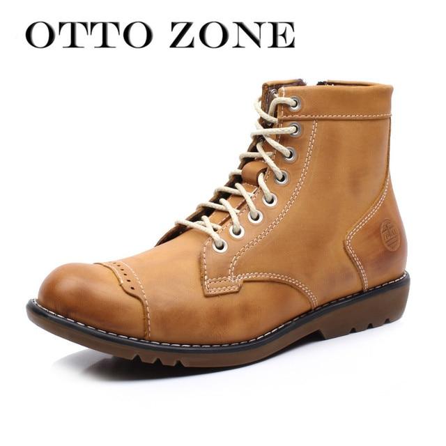 68e81201c بيع تخليص otto الرجال مارتن الأحذية اليدوية جلد طبيعي عالية أعلى الكاحل  الأدوات الفراء + سستة