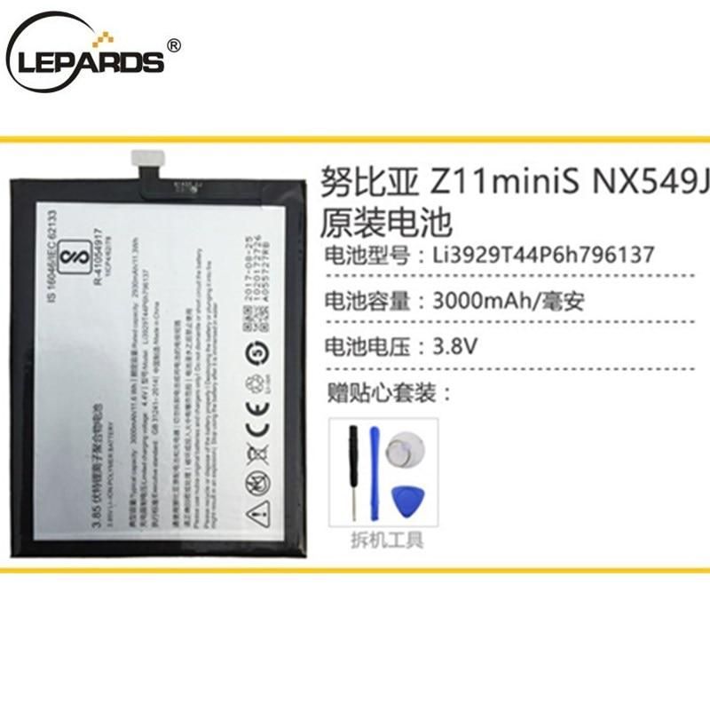 100% Original Li3929T44P6h796137 Battery For ZTE Nubia Z11miniS Z11 miniS NX549J Z17mini Z17 mini NX569H NX569J Battery 3000mAh