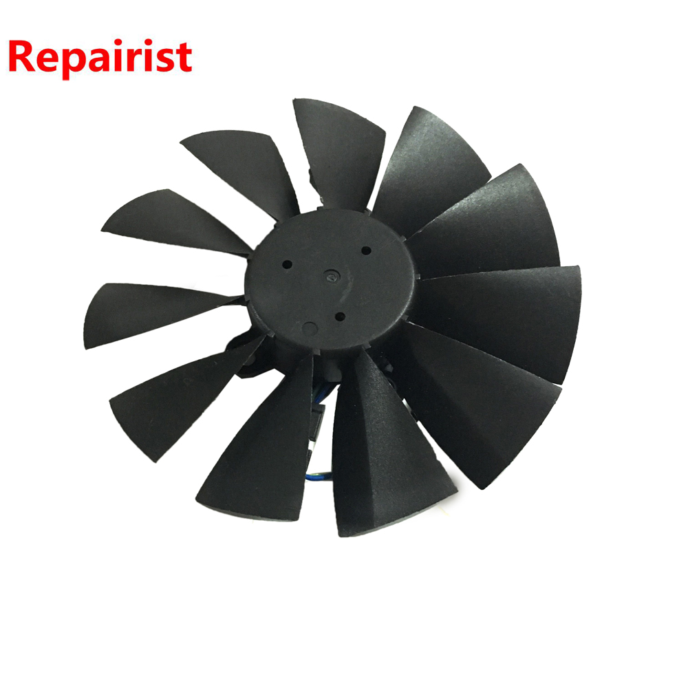 95MM Diameter GTX970 980 780 GPU VGA cooler graphics card fan for ASUS GTX970 980 780 STRIX-R9285 Video cards cooling free shipping diameter 75mm computer vga cooler video card fan for his r7 260x hd5870 5850 graphics card cooling