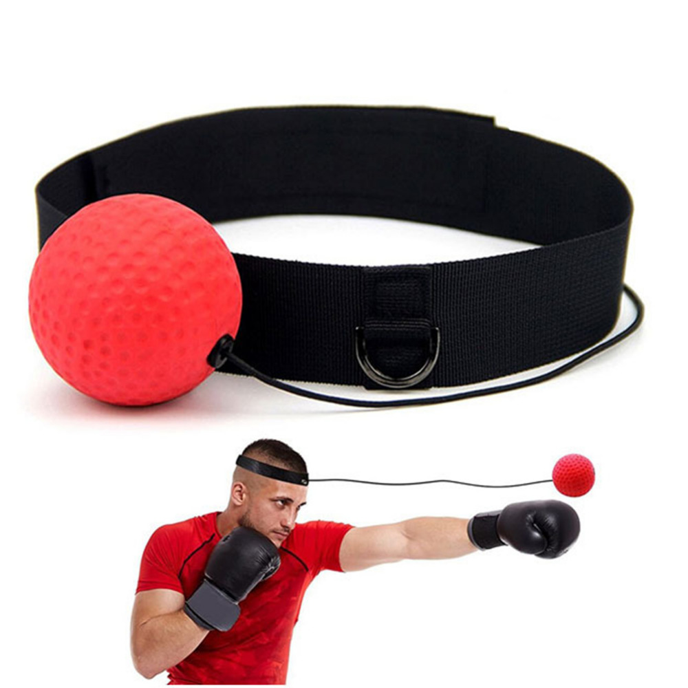 Red YanHoo Fight Ball With Head Band For Reflex Speed Training Boxing Boxing Punch Exercise
