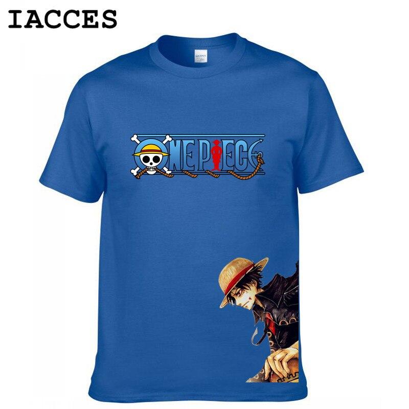 Cool One Piece T Shirt Men Cotton Anime T-shirt Brand Clothing Tees Homme White Beard Monkey.D.Luffy Anime Fashion Camiseta