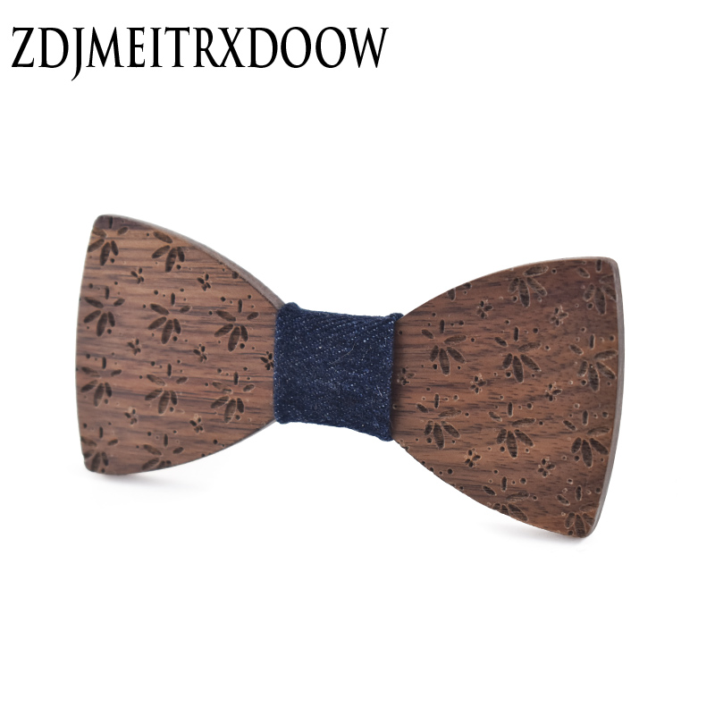 Children Bow Tie Baby Boy Kids Clothing Accessories Printing Color Gentleman Wooden Girls Bowties Neck Tie Flower Bowknot Dot