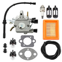 250 FS200 Carburetor Kit Air filter Spacers Primer bulbs Plugs Trimmer Cutting Lawn Mower Spark Plug For Stihl