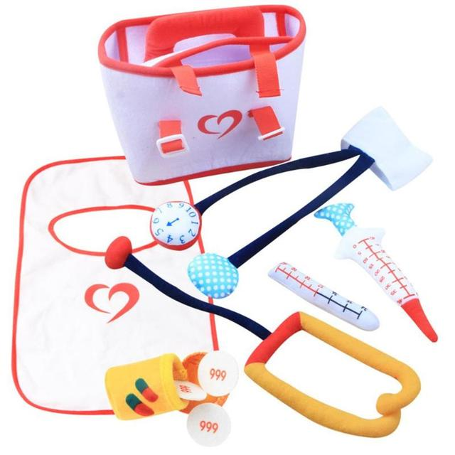 1 Set Cloth Doctor Toys Safe Children Pretend Play Doctor Toys Soft Medical Kit Simulation Tools Baby Kids Pretend Play Kits