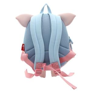 Image 2 - NOHOO Kids Toddler Child Pre School Backpack Waterproof 3D Cartoon Pilot Pig Sidesick Bag for Pre Kindergarten 2 6 Years