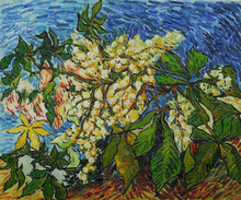 Blossoming Chestnut Branches by Vincent Van Gogh Handpainted