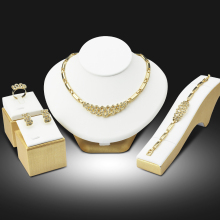 Dubai Gold Color Jewelry Sets Nigerian Wedding African Beads Crystal Bridal Jewellery Set Rhinestone Ethiopian Jewelry