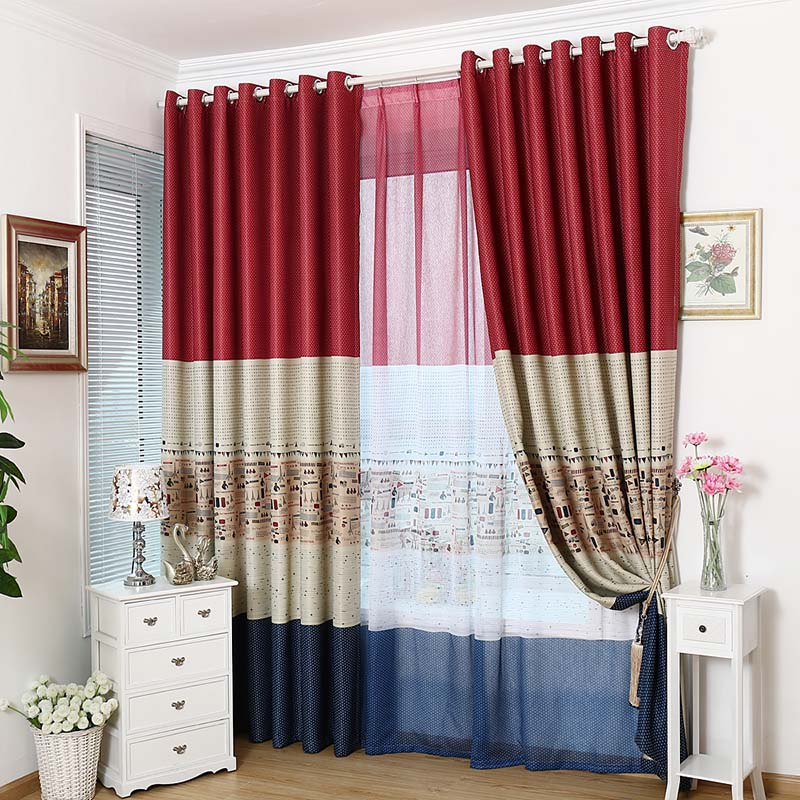 Online Shop Dreamwood High Shading Printed Window Curtains Eco Friendly  Blackout Living Room Curtain Small Airplane Printed Child Curtains |  Aliexpress ...