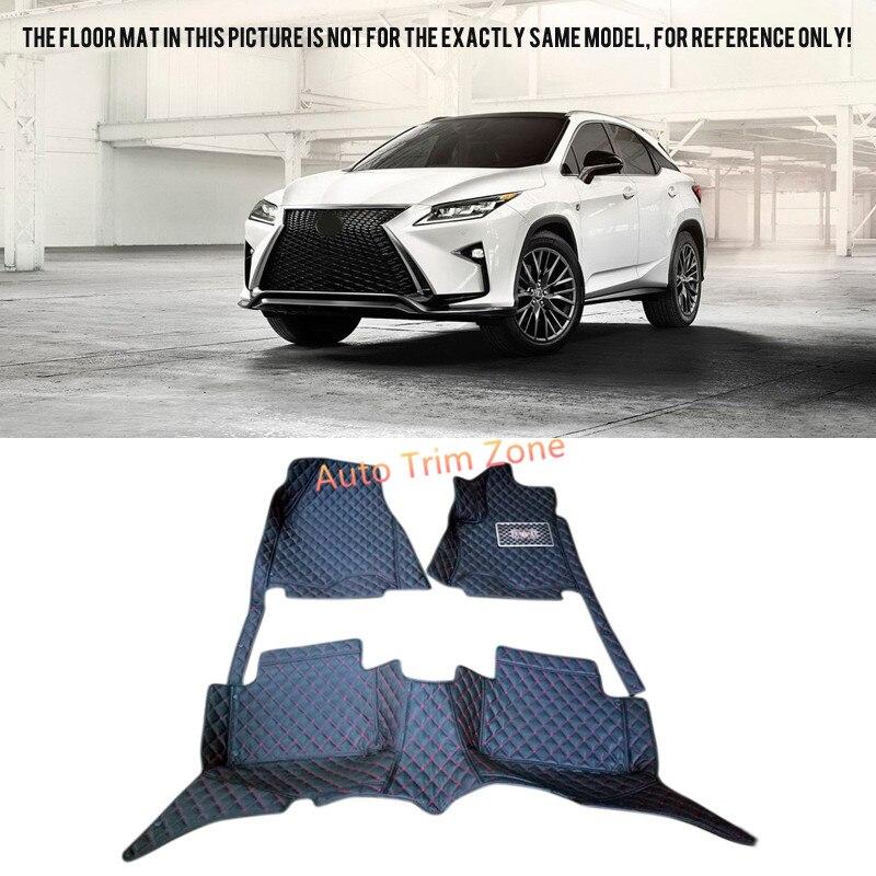 Black Interior Leather Floor Mats & Carpets Foot Pads For Lexus RX270 RX350 2009-2015 AL10