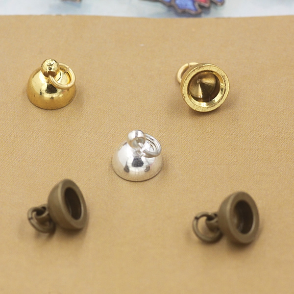 Inner 5mm Antique Bronze /Silver /Gold Plated Pendant Connector Bail Cup Cap Bead Cap DIY Jewelry Components 100 PCS