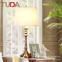 32*70 см Американский бронза настольная лампа простой Гостиная Спальня исследования настольная лампа Европейский Роскошные декоративные на