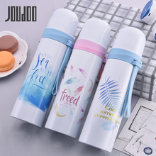 JOUDOO Stainless Steel Thermos Hot Coffee Travel Mug Thermal Bottle for Water Tumbler Thermocup Drink 35