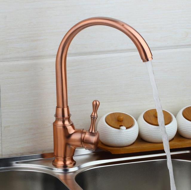 robinet de cuisine en cuivre antique retirer, robinet de lavabo
