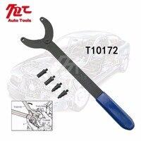 Timing Belt Change Tool Against Timing Pulley Holder Tool VW Golf VAG 3036 T10172