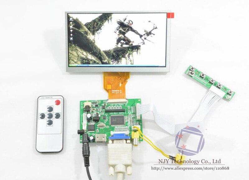ФОТО Free Shipping HDMI+VGA+2AV+Remote LCD controller Board+6.5