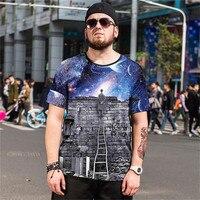 2018 verão novo Curto-de mangas compridas boutique high-end tamanho Grande T-shirt dos homens dos homens tendência de Indivíduo comércio de roupas Tamanho 5XL 6XL