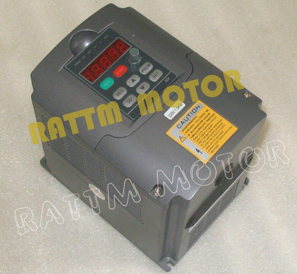 Entraînement à fréquence Variable VFD Inverter 1.5KW 2HP 220 V 7A