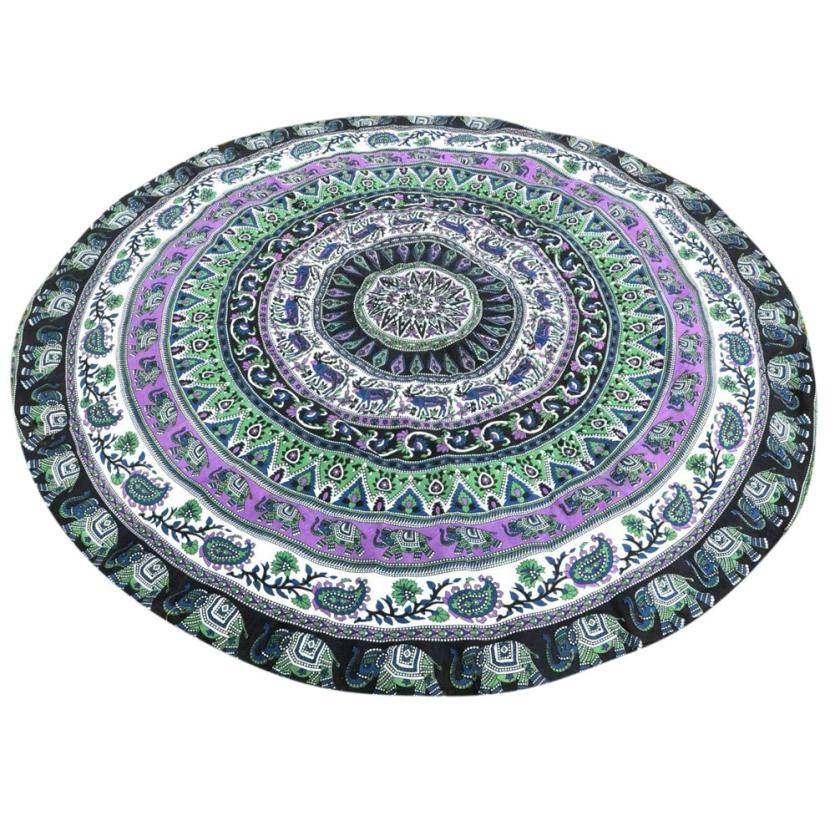 New Qualified Round Beach Pool Home Shower Blanket Table Cloth Yoga Mat dig7216
