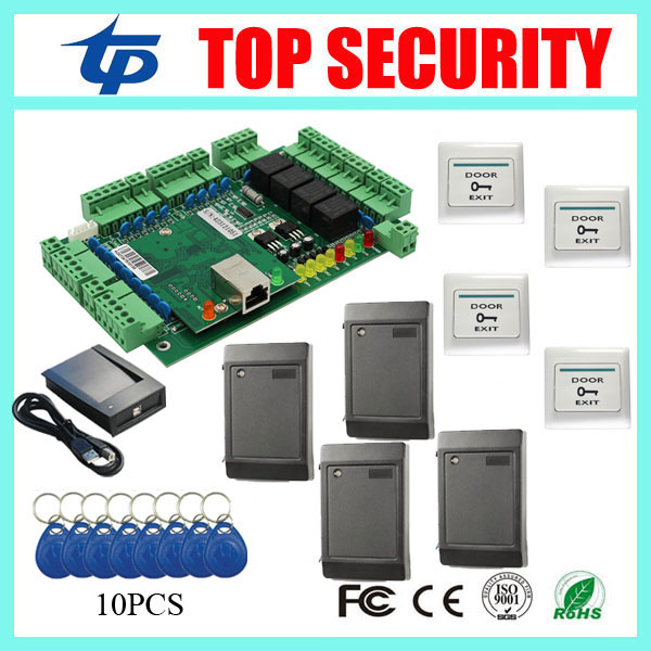 Cheap smart card door access control board TCP/IP RS485 weigand access control system 4 doors door control time attendance biometric fingerprint access controller tcp ip fingerprint door access control reader