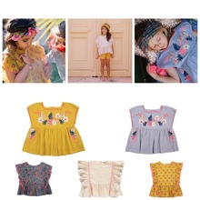kids clothes kids dresses girls clothes dresses for girls baby girl clothes girls boutique outfit kids clothing sets shorts cheap Fashion Floral O-Neck REGULAR Children Fits true to size take your normal size Covered Button ray2019031100012 Vest COTTON