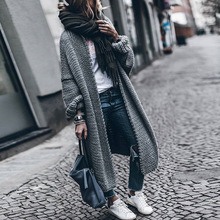 Street Tide Loose Cardigan Thickened Women Sweater 2019 Cross-border Explosions Long Sleeve Knitted