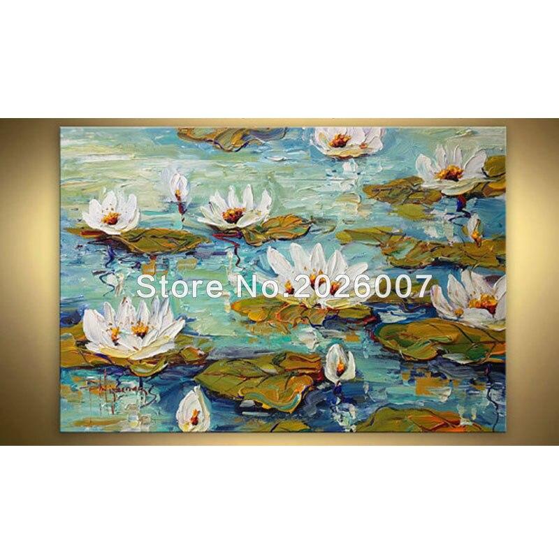 Yüksək keyfiyyətli Ağ Qırmızı Poppies Əl Boyalı Palitrası - Ev dekoru - Fotoqrafiya 3