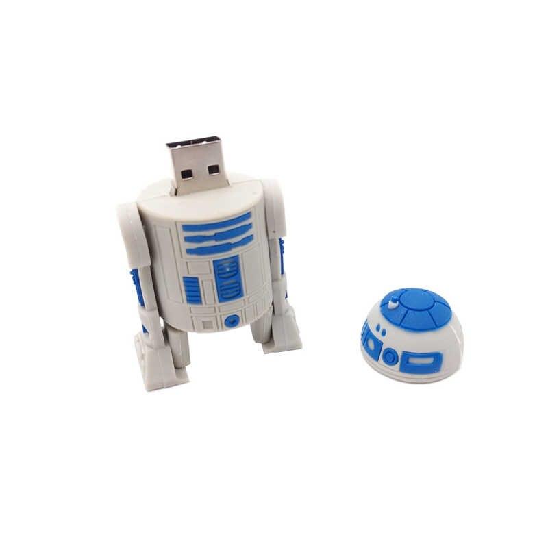 Unidade flash USB dos desenhos animados da Série Star Wars pendrive 4 GB GB GB 32 16 8 GB 64G R2D2 BB-8 vara da memória do robô darth vader pen drive vara
