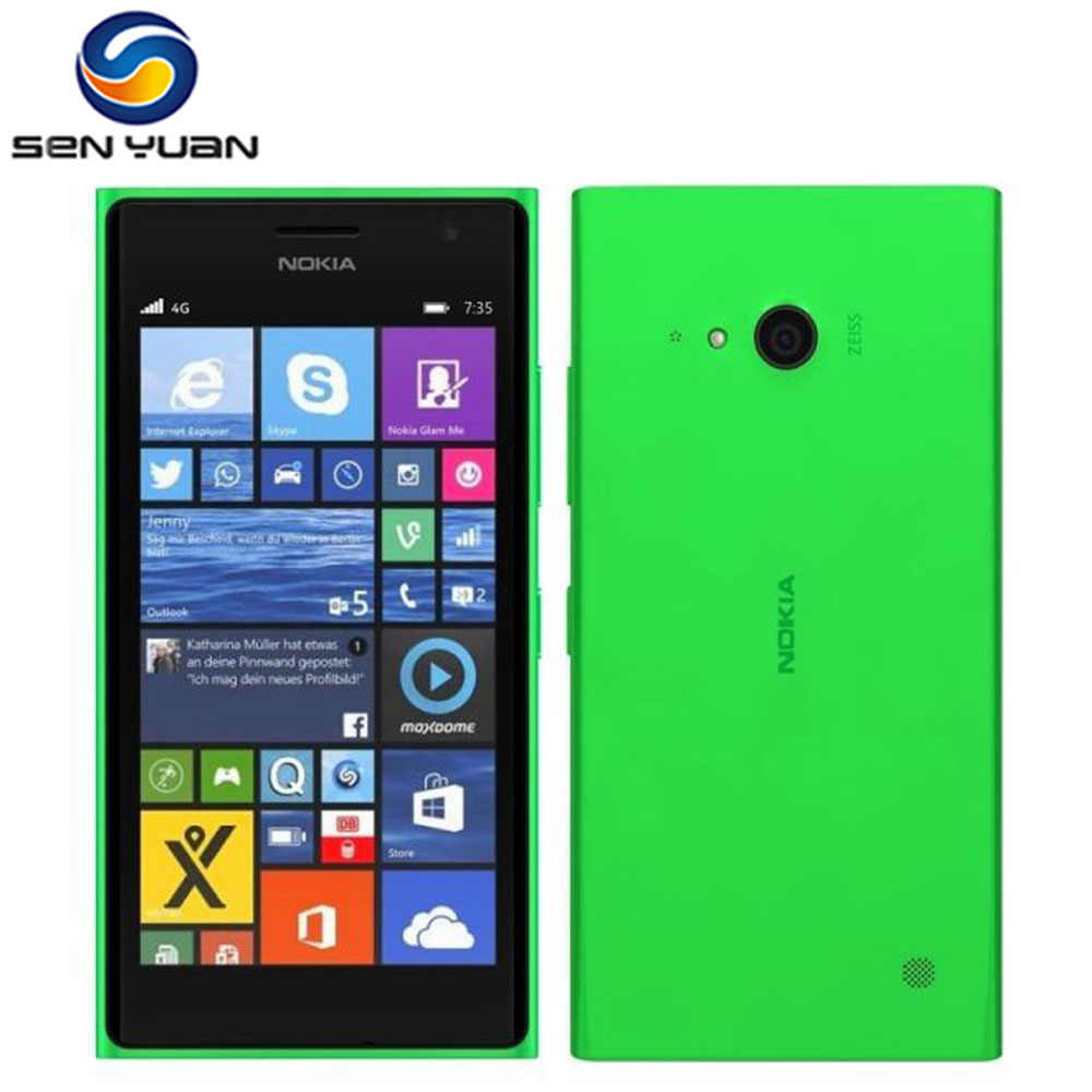 "Original Nokia Lumia 735 Entsperrt 4,7 ""8 GB ROM 1GB RAM Quad Core LTE Windows-handy telefon"