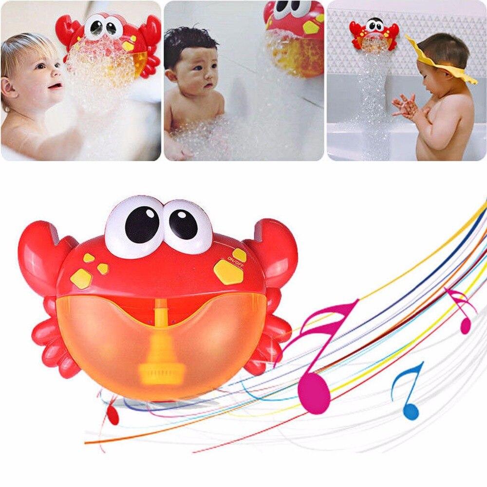 Baby Bad Spielzeug Blase Krabben Lustige Bad Musik Blase Maker Schwimmen Bad Pool Spielzeug Für Kinder Badewanne Seife Maschine