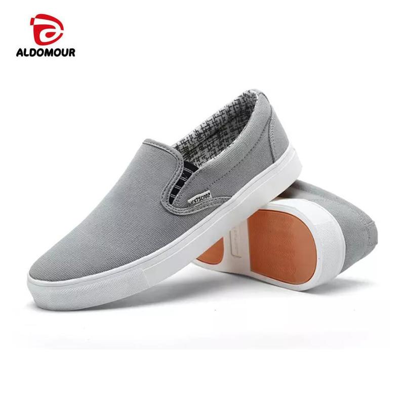 Prix pour D'origine ALDOMOUR Classic Slip-sur Toile Chaussures Hommes et Femmes Sneakers Classique Planche À Roulettes Chaussures Louis Sneakers 80107